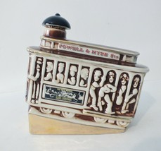 "Vintage 1968 ""Ezra Brooks"" Powell & Hyde Sts. Ceramic Whiskey Decanter - $13.99"