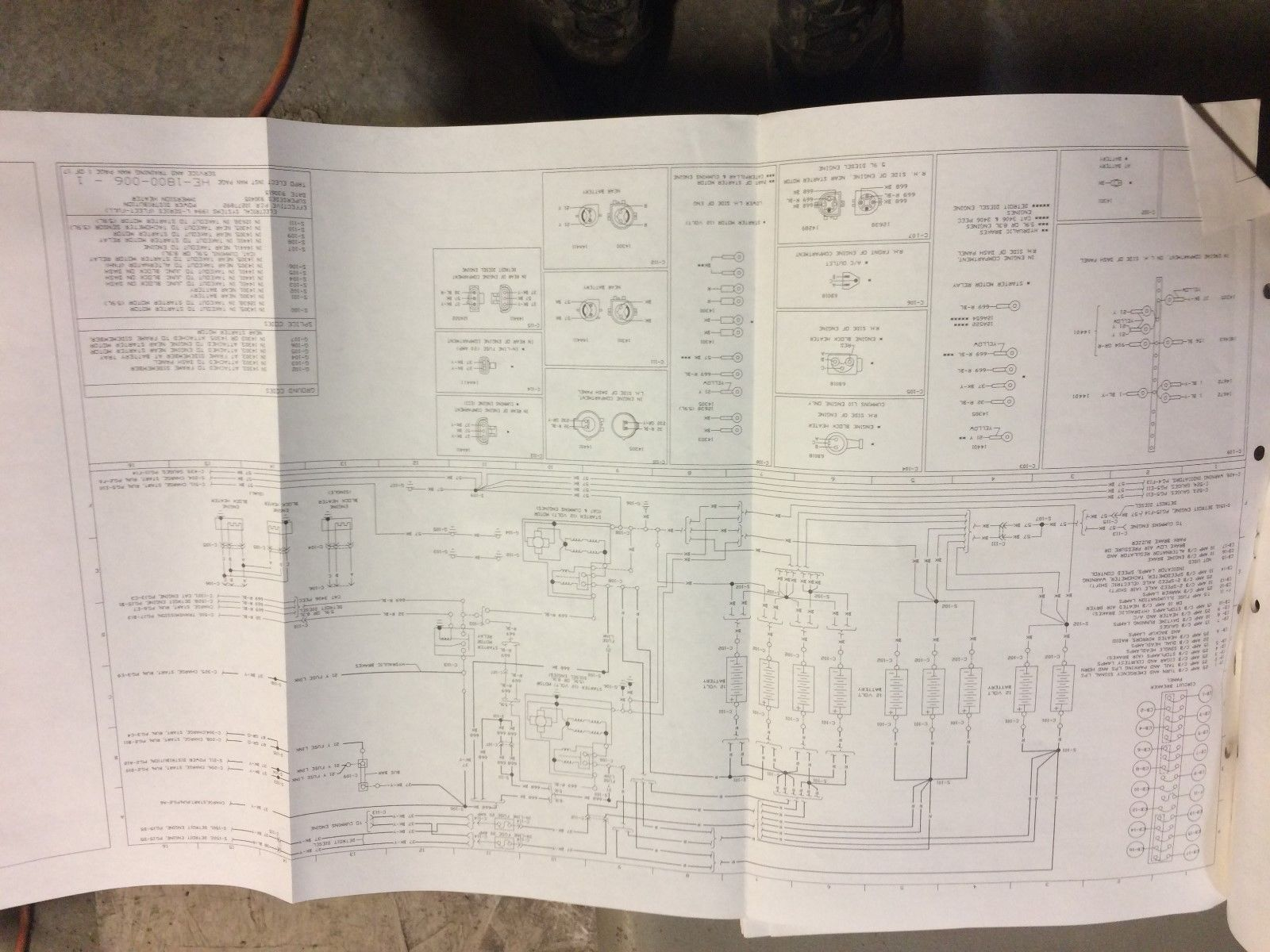 1994 Ford F600 F800 Cab Wiring Diagram And 46 Similar Items Block Diagram  1994 F800 Wiring Diagram