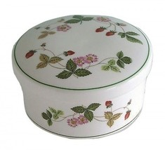 Wedgwood Bone China Wild Strawberry Covered Round Trinket Box New In Box - €40,06 EUR