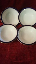 "Set of Royal Worcester Howard Cobalt Blue 6 3/4"" Cereal Bowl Factory 2nd - $39.59"