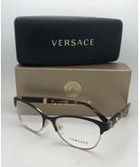 New VERSACE Eyeglasses MOD.1233-Q 1344 53-17 140 Brown & Gold Cat Eye w/... - $149.99