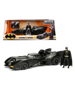 1989 Batmobile with Diecast Batman Figure 1/24 Diecast Model Car by Jada... - $51.94