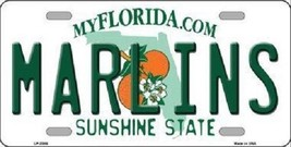 "MLB Miami Marlins License Plate Team State Background Metal Tag ""U.S.A.""  - $9.85"