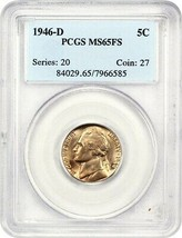 1946-D 5c PCGS MS65 FS - Jefferson Nickel - $29.10
