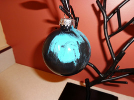 MARBLE GLASS ORNAMENTS hand painted one of a kind! Christmas Ornament - $5.00
