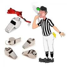 Emergency Soccer Referee With Lanyard Football Whistle Metal image 5