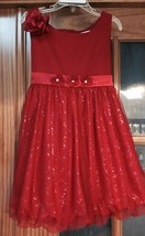 American Girl Retired Sparkle HOLIDAY Cranberry Dress for Girls Size 6 EUC - $24.99