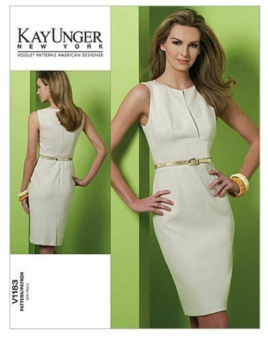 Vogue Patterns V1183 Misses Dress Casual Size AA (6-8-10-12) Kay Unger New York