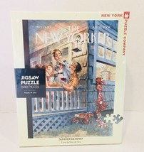 New York Puzzle Company New Yorker Summer Getaway 500 Piece Jigsaw Puzzl... - $44.43
