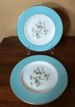 "Lot 2 Vintage Homer Laughlin Eggshell Cavalier CV 69 turquoise 7.25"" salad plate - $21.47"