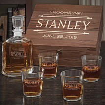 Stanford Custom Argos Decanter Set with On the Rocks Glasses - $159.95