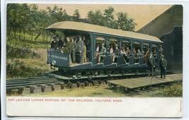 Incline Railroad Car Mt Thom Railroad Holyoke Massachusetts 1907c postcard - $7.38