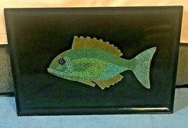 "EAMES ERA MID CENTURY MODERN-- COUROC MOSAIC FISH TRAY 18"" X 12 1/2""  - $124.95"