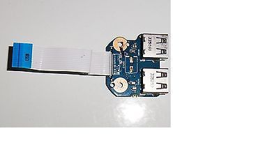 HP 2000-2B 2D Series USB 2.0 Port Board w/ Ribbon Cable 6050A2493701-USB-A02