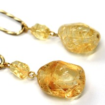 Earrings Antica Murrina Venezia, Hanging, Drop Nugget Yellow, 7.5 cm, Murano image 2