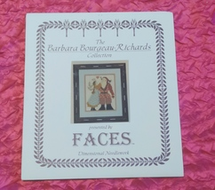 "Barbara Bourgeau-Richards Collection Cross Stitch Pattern Faces ""SANTA'S... - $5.50"