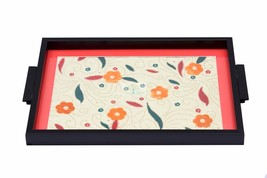 Handmade  Tray  with Orange flower blossoming. - $108.00