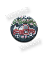 Red Truck Fresh Eggs Farm Chalk On The Farm Needle Nanny needle minder HOD - $12.00