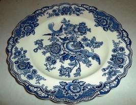 Dinner Plate Bristol Blue by CROWN DUCAL Large Porcelain China Dinner Pl... - $65.99