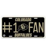 NCAA Colorado Buffaloes #1 Fan Metal Tag License Plate - $7.98