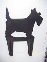 Scottish Scotty Dog Silhouette Boot Scraper Cast Iron Scottie NOS - $75.00