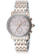 GV2 Gevril Marsala 9807 ROSE GOLD & SILVER Chronograph Diamond WATCH Swi... - $349.65