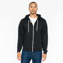 497 American Apparel Unisex Flex Fleece Zip Hooded Sweatshirt Made In Usa New! - $34.64+
