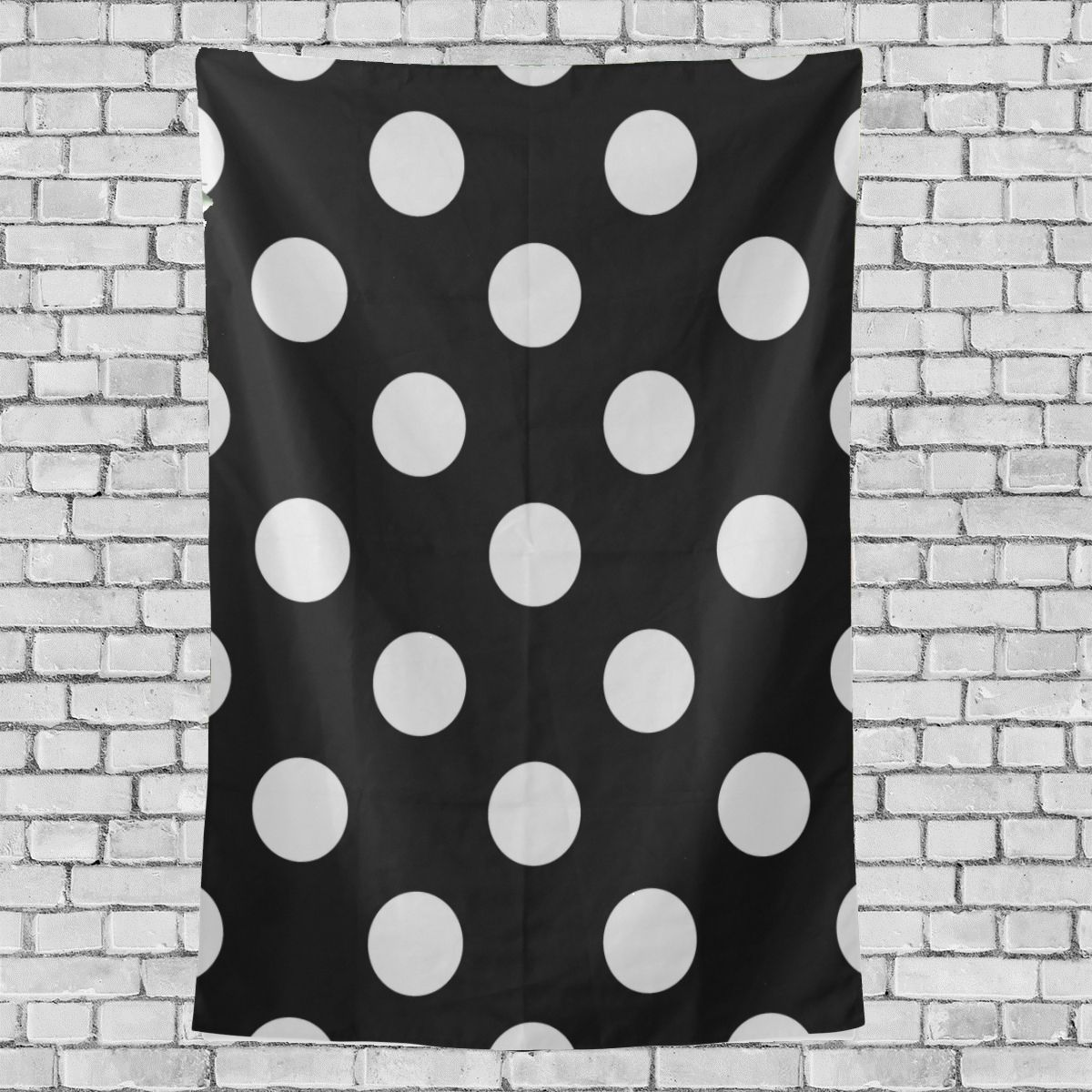 Primary image for Fire Wall Decor White Black Polka Dot Pattern Prinesses Wall Hanging 40x60 Inch