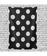 Fire Wall Decor White Black Polka Dot Pattern Prinesses Wall Hanging 40x... - $26.00