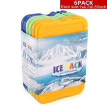Lunch Ice Pack, Set of 6 Reusable Lunch Freezer Pack for Coolers, Larger... - $17.75 CAD