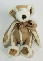 """Bath & Body Works Tan Suede GINGERBREAD Teddy Bear Plush Stuffed Animal 7"""" tall  - $9.85"""