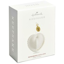 Hallmark 2018 Remembered With Love Keepsake Shell Heart Memorial Bereavement NIB - $11.29