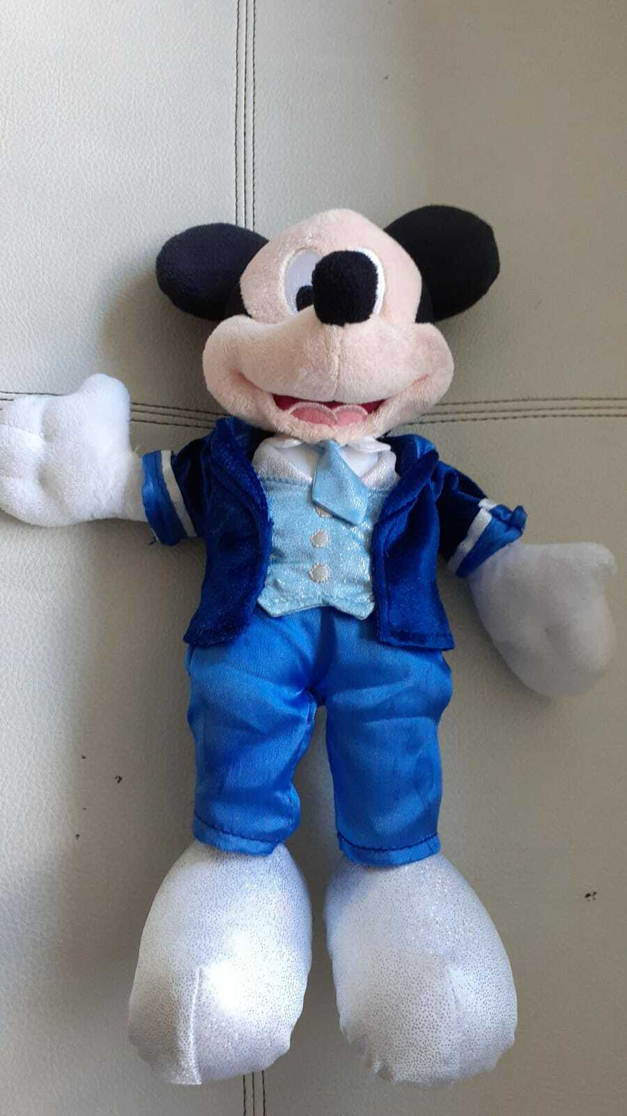 Primary image for Disney Mickey Mouse Stuffed Toy Kids Baby Boy Animal Plush Doll Blue Suit 12""