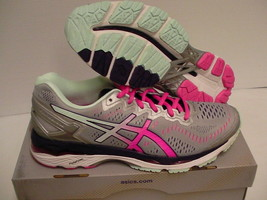 Asics women's gel kayano 23 athletic shoes silver pink glitter size 7.5 us - $105.12