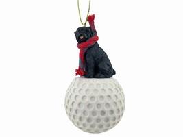 Pug Black golf Ornament - $17.99