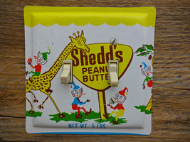 Nursery Decor Switch Plate 1950s Mid Century Shedds Peanut Butter Tin - $34.00