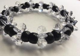 Black beads bracelet - $6.00