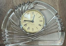 Mikasa Crystal Quartz Clock Semi Circle. Flat Bottom. - $16.45