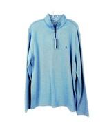 IZOD Saltwater Quarter 1/4 Zip Pullover Sweatshirt Shirt Blue Men's size... - $29.69