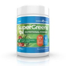 SuperGreens Greens Powder 17 Super Fruit & Vegetables 100g - $12.99