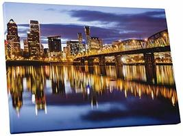 "Pingo World 0429QAZFMSS ""Portland Night Skyline"" Gallery Wrapped Canvas Wall Art - $57.37"