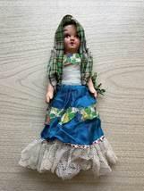 "Vintage 30s Composition Mexican Folk Art Doll - 12"""