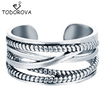Todorova Sterling Silver Jewelry Layers Line Vintage Accessories Antique... - $7.99