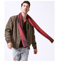 Fashion Cotton Scarf Men Winter Warm Wraps Comfortable Universal Scarves... - £11.39 GBP