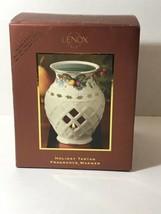 LENOX Holiday Fragrance Warmer Holly Berries Porcelain Wax Warmer  - $17.81