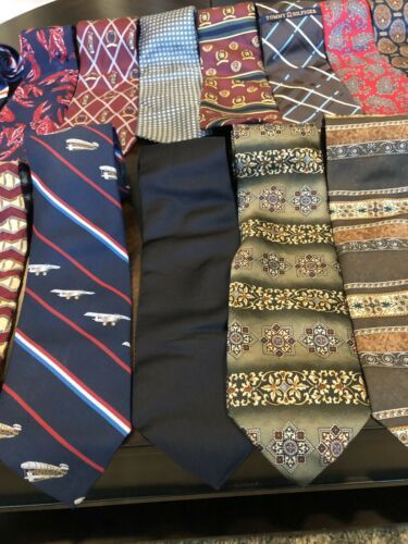 Tommy Hilfiger,Van Heusen and more lot of 18 Assorted Silk Neckties Multi-Color  image 7