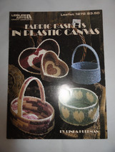Fabric Baskets in Plastic Canvas Pattern Leaflet 1272 Leisure Arts  - $4.95
