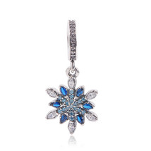 Couqcy Real 925 Sterling Silver Snowflake Charms Fit Original Pandora Br... - $8.57