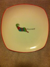 """FITZ & FLOYD-""""STOCKINGS""""--SQUARE PLATE / DISH--8""""--HAPPY HOLIDAYS-FREE S... - $15.27"""