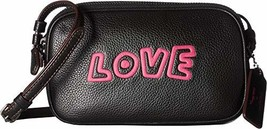 COACH Keith Haring Leather Crossbody Pouch Black One Size
